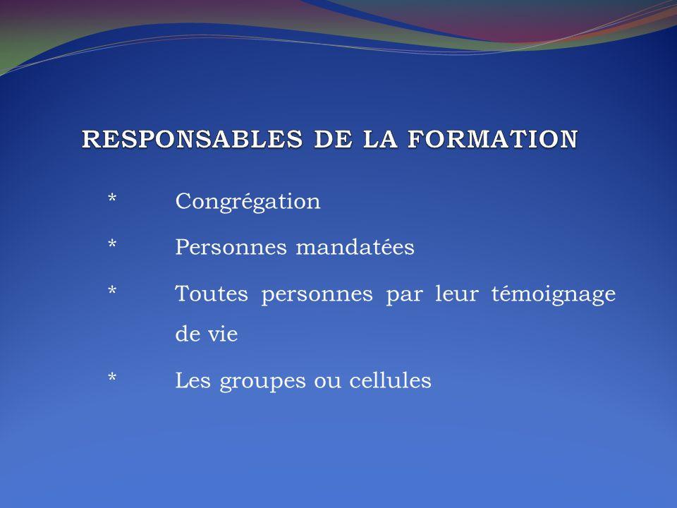 RESPONSABLES DE LA FORMATION