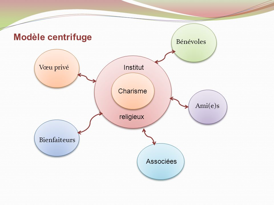 Modèle centrifuge Bénévoles Vœu privé Institut Charisme Ami(e)s