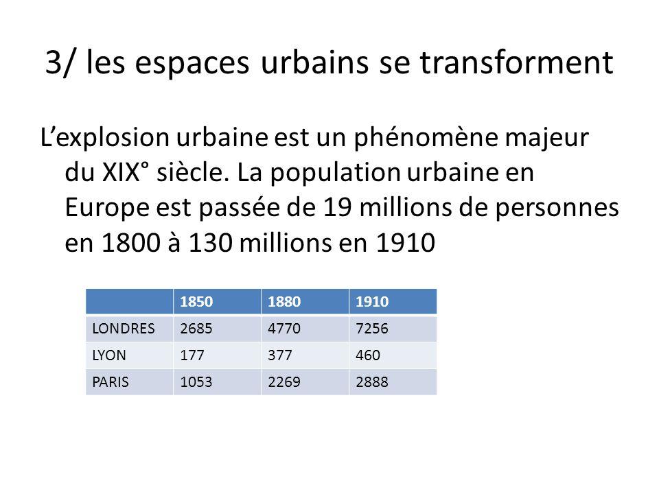 3/ les espaces urbains se transforment