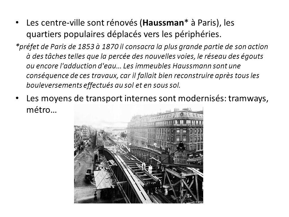 Les moyens de transport internes sont modernisés: tramways, métro…
