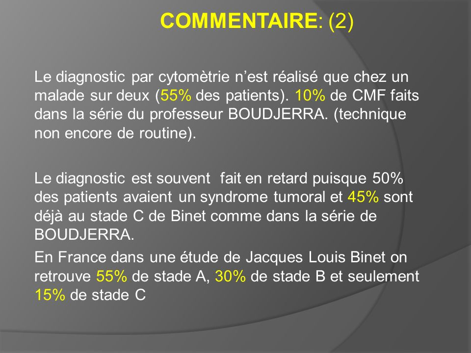 COMMENTAIRE: (2)
