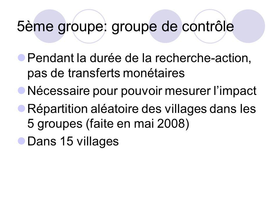 5ème groupe: groupe de contrôle