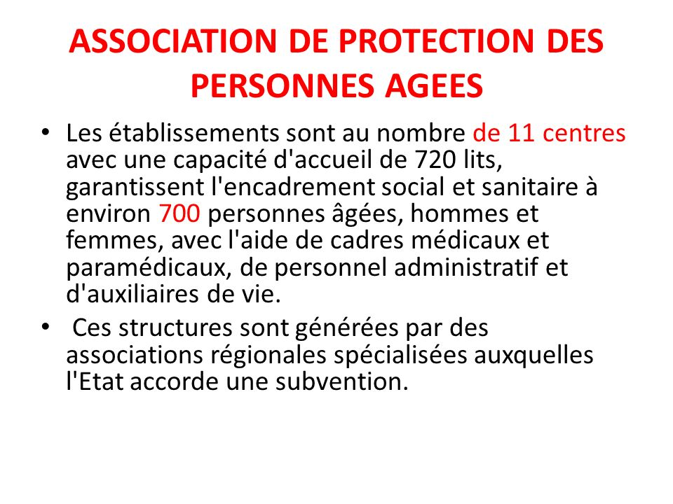 ASSOCIATION DE PROTECTION DES PERSONNES AGEES