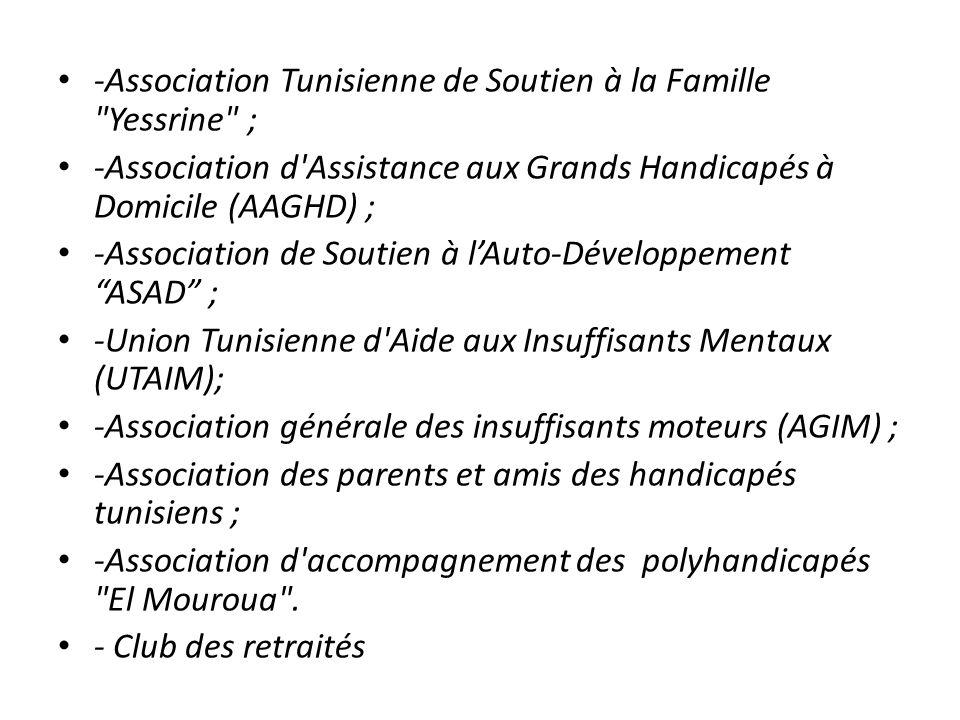 -Association Tunisienne de Soutien à la Famille Yessrine ;