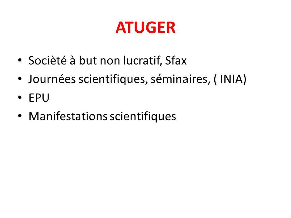 ATUGER Socièté à but non lucratif, Sfax