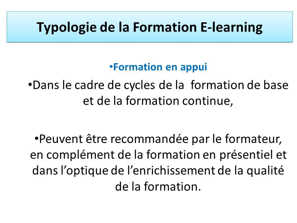 Typologie de la Formation E-learning