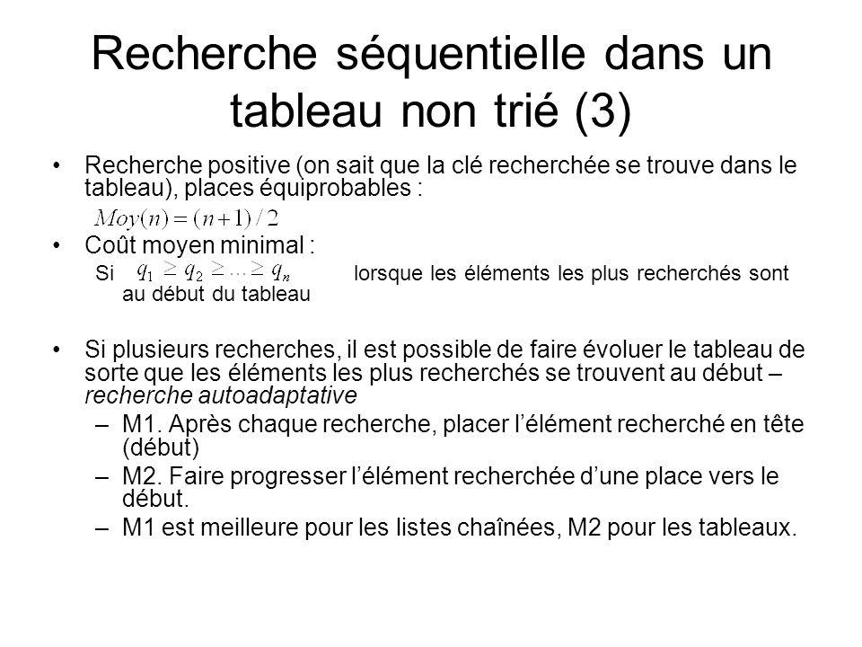Recherche séquentielle dans un tableau non trié (3)