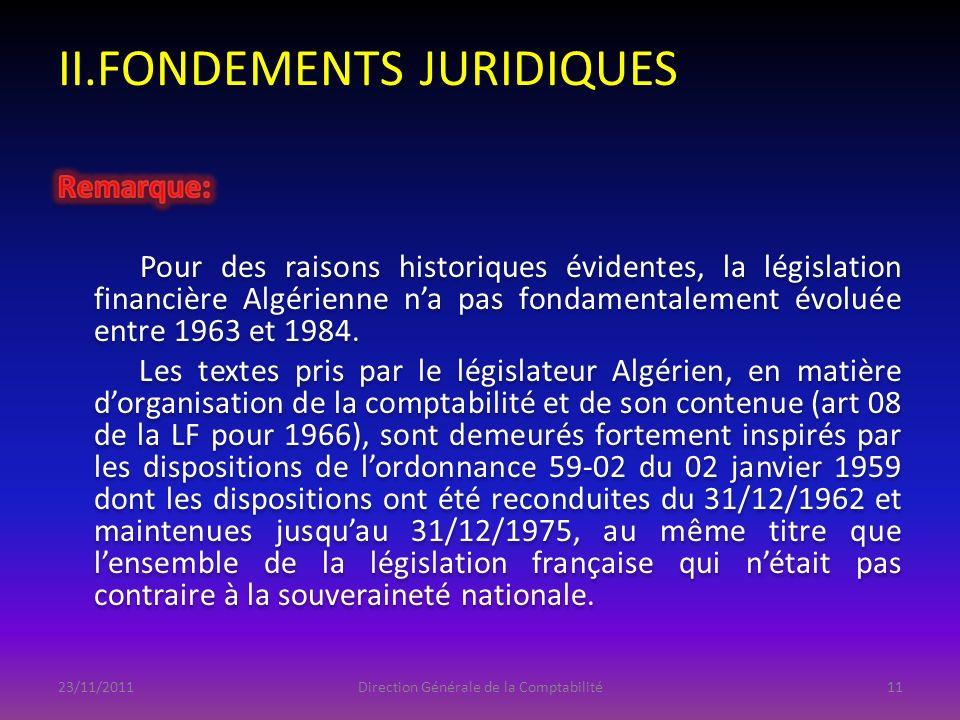 II.FONDEMENTS JURIDIQUES