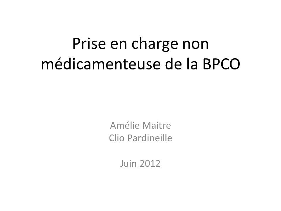 Prise en charge non médicamenteuse de la BPCO