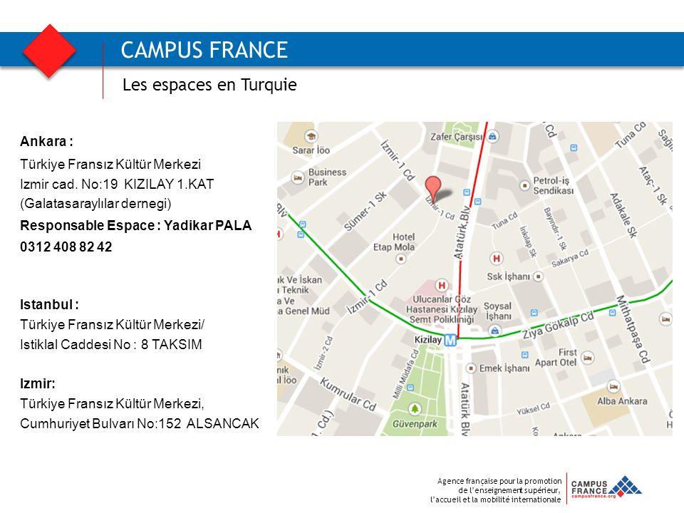 CAMPUS FRANCE Les espaces en Turquie Ankara :