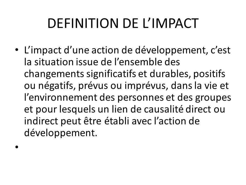 DEFINITION DE L'IMPACT