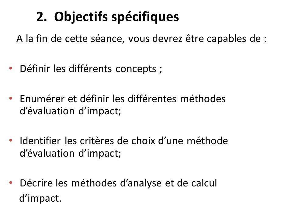 2. Objectifs spécifiques