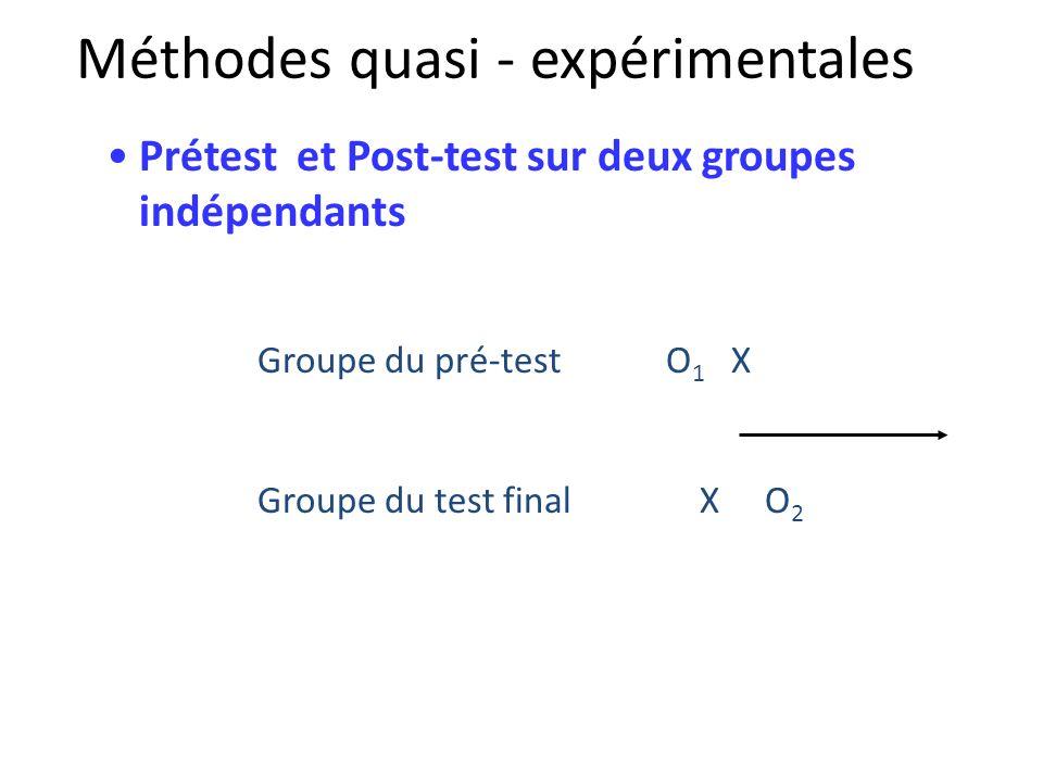 Méthodes quasi - expérimentales