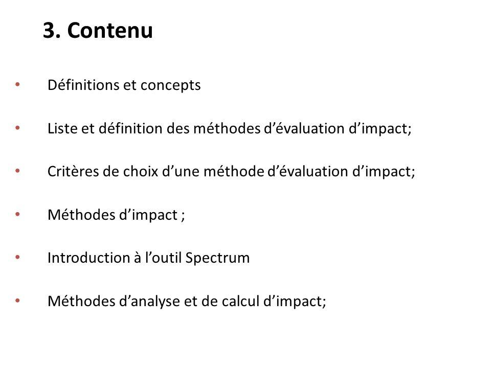 3. Contenu Définitions et concepts