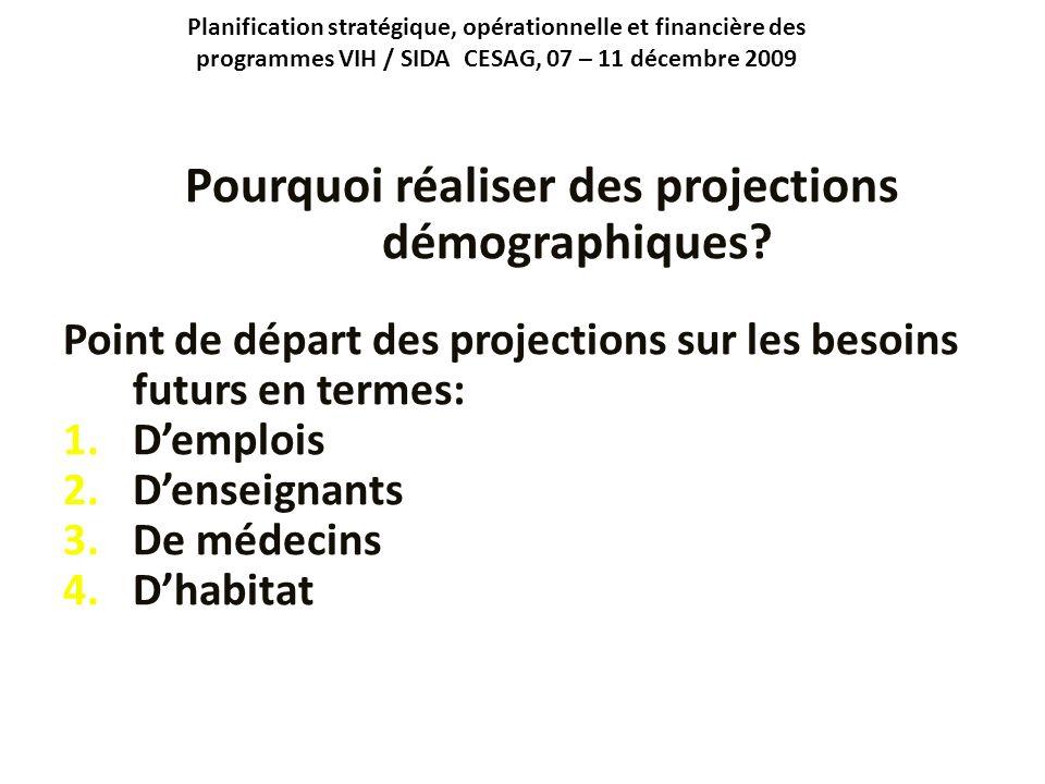 Pourquoi réaliser des projections démographiques