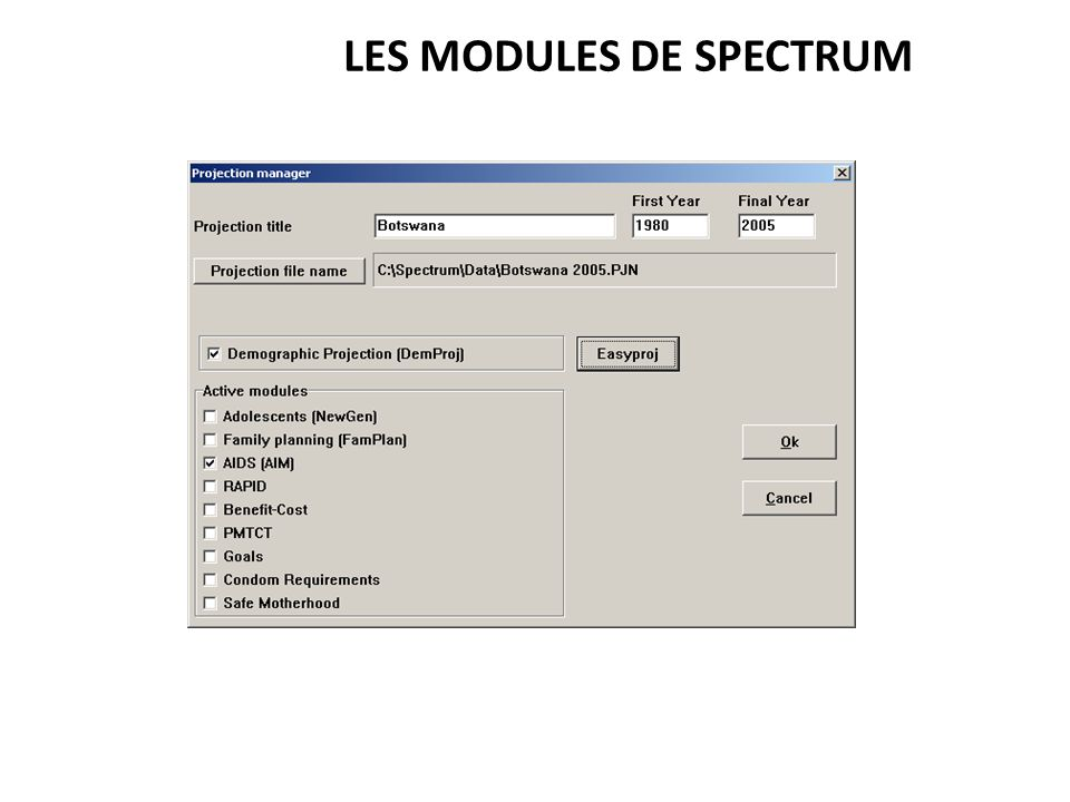 LES MODULES DE SPECTRUM