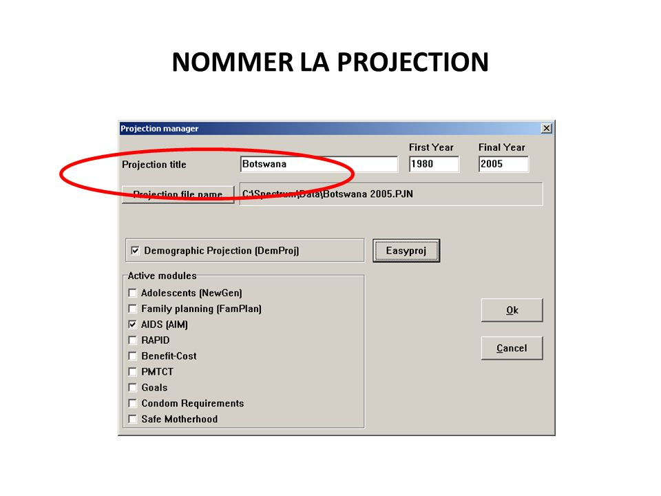 NOMMER LA PROJECTION 79