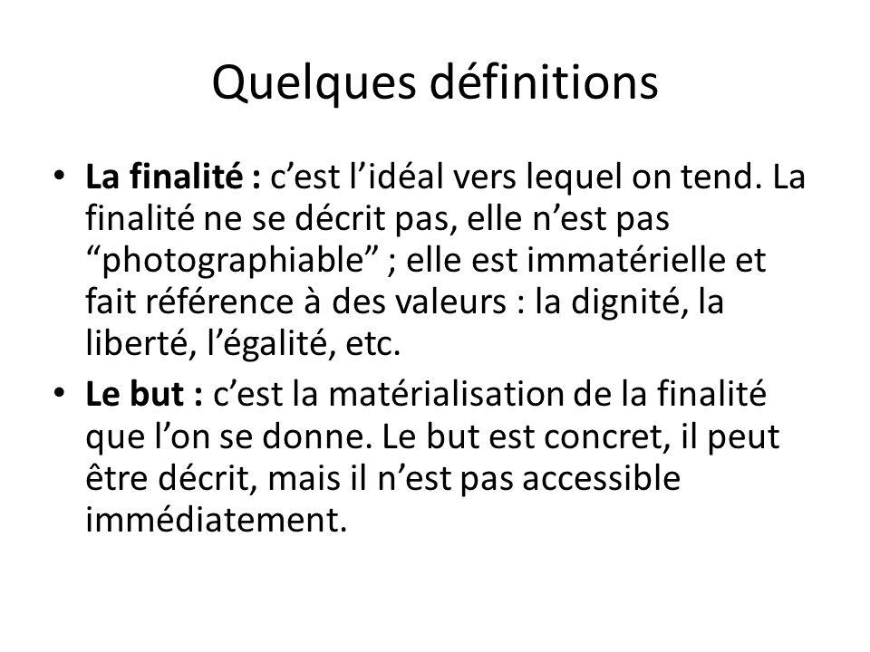 Quelques définitions