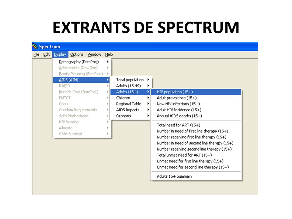 EXTRANTS DE SPECTRUM 94