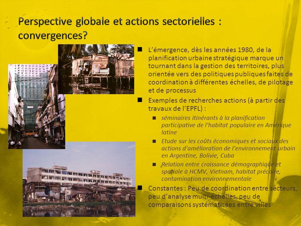 Perspective globale et actions sectorielles : convergences