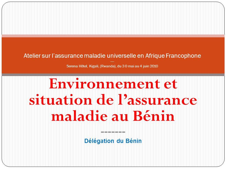 Environnement et situation de l'assurance maladie au Bénin