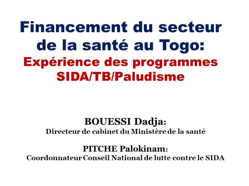 Financement du secteur de la santé au Togo: Expérience des programmes SIDA/TB/Paludisme