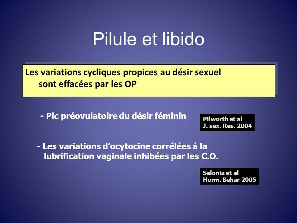 Pilule et libido Les variations cycliques propices au désir sexuel