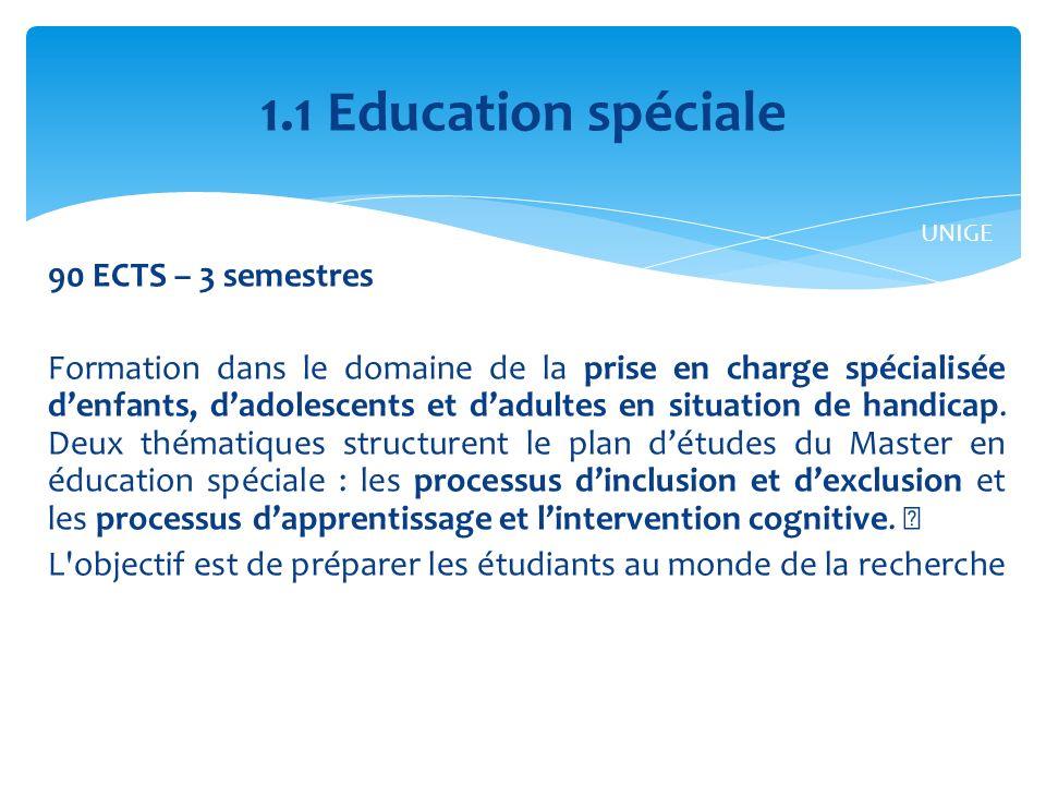 1.1 Education spéciale UNIGE.