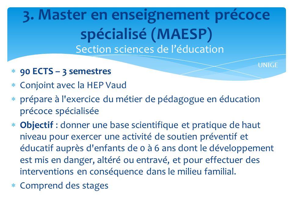 3. Master en enseignement précoce spécialisé (MAESP)