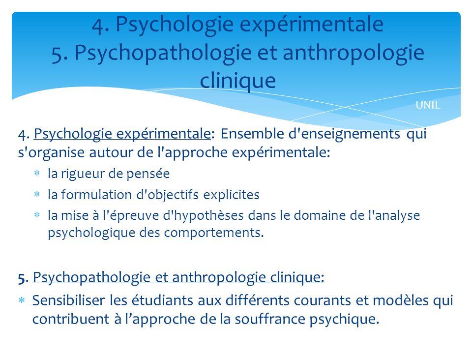 4. Psychologie expérimentale 5