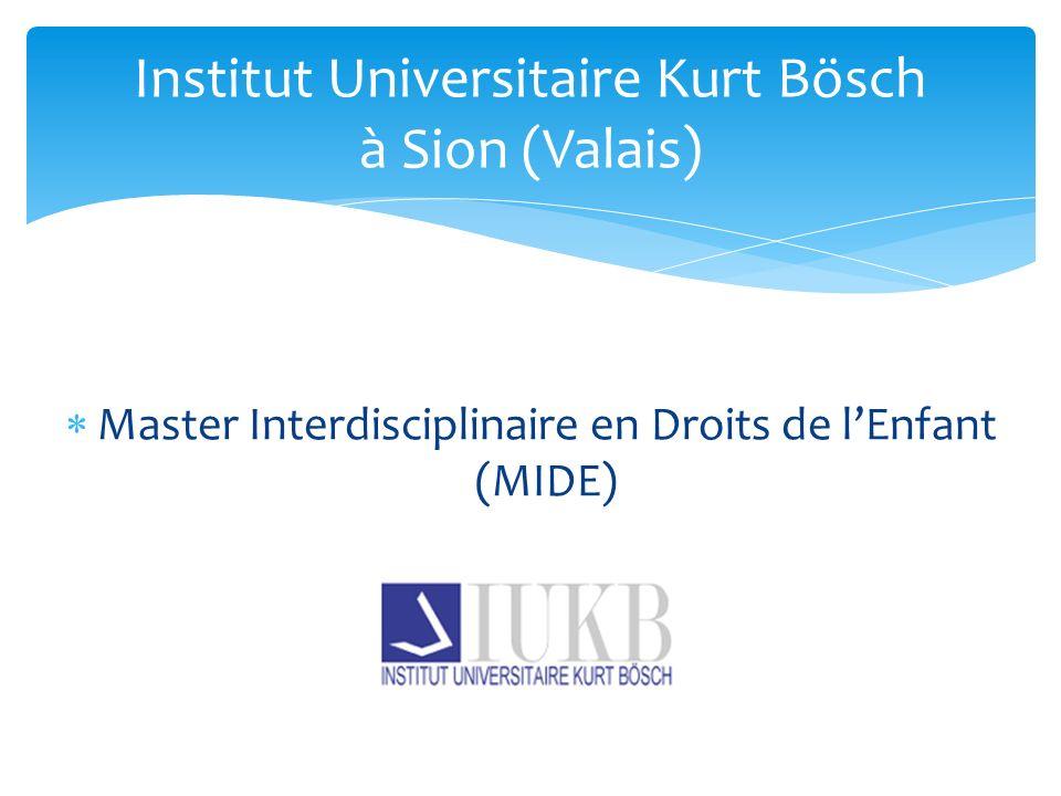 Institut Universitaire Kurt Bösch à Sion (Valais)