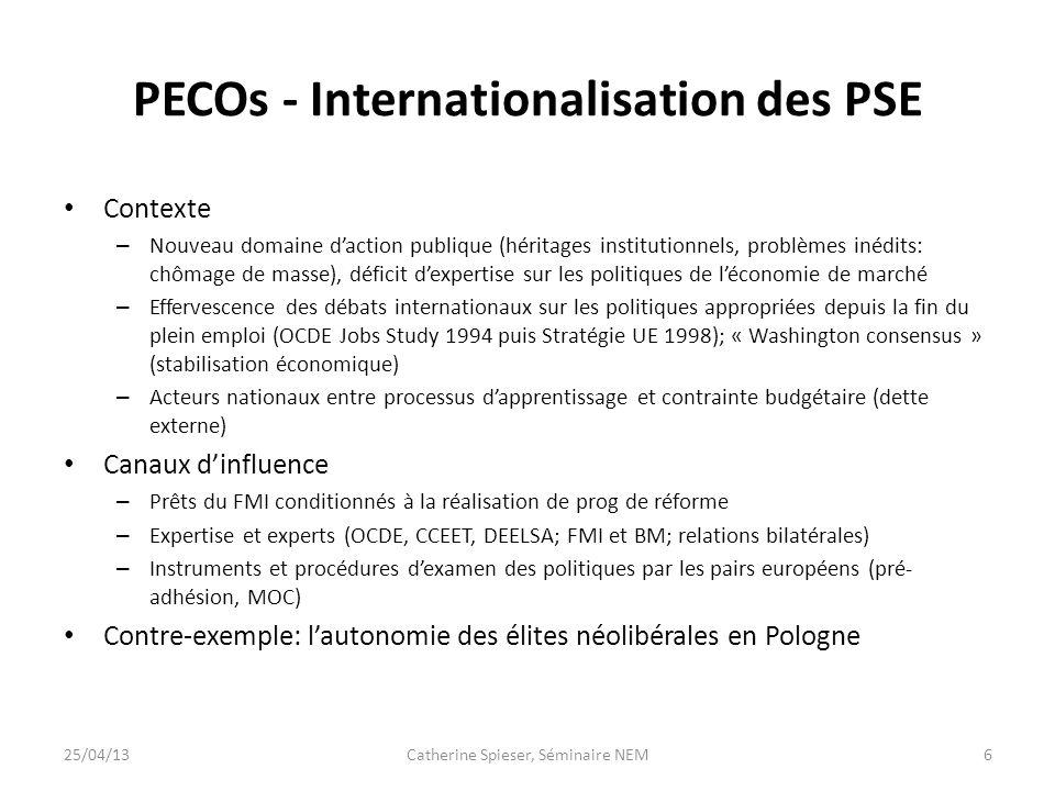 PECOs - Internationalisation des PSE
