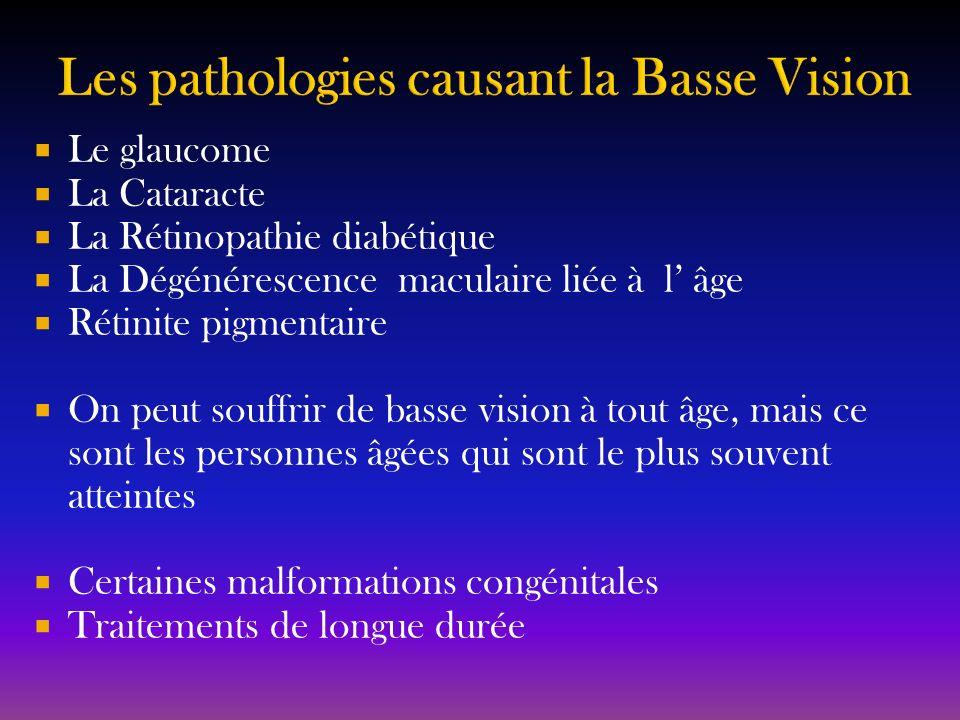 Les pathologies causant la Basse Vision