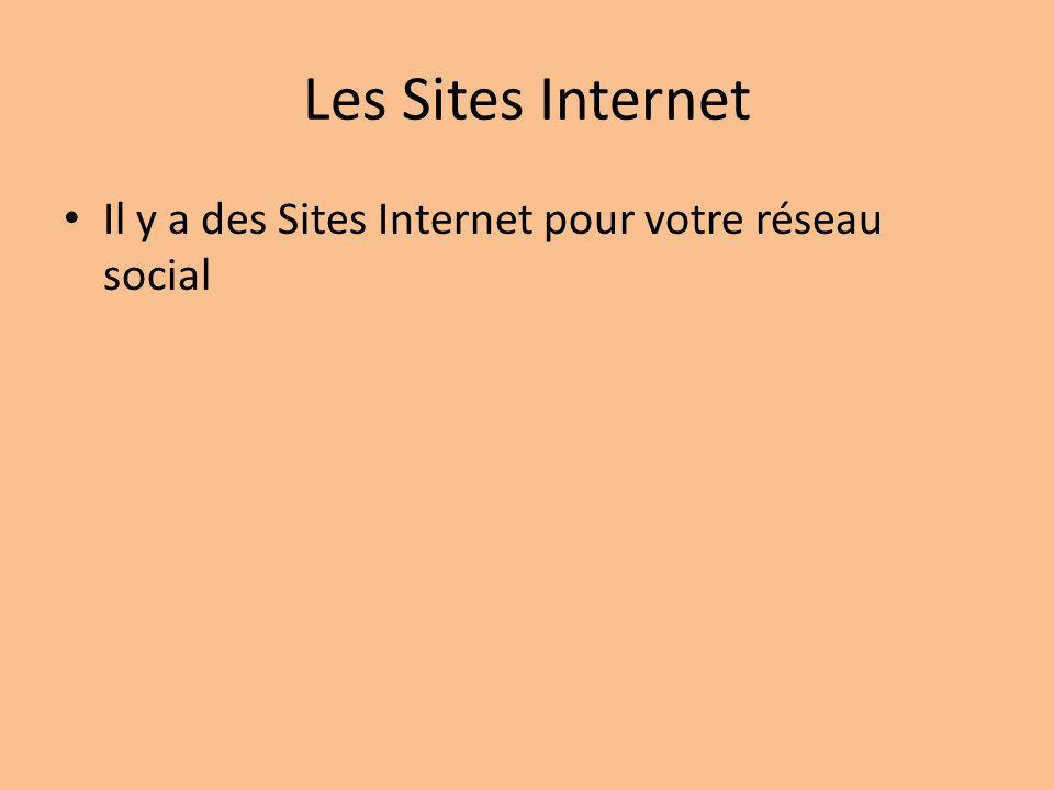 Les Sites Internet Il y a des Sites Internet pour votre réseau social