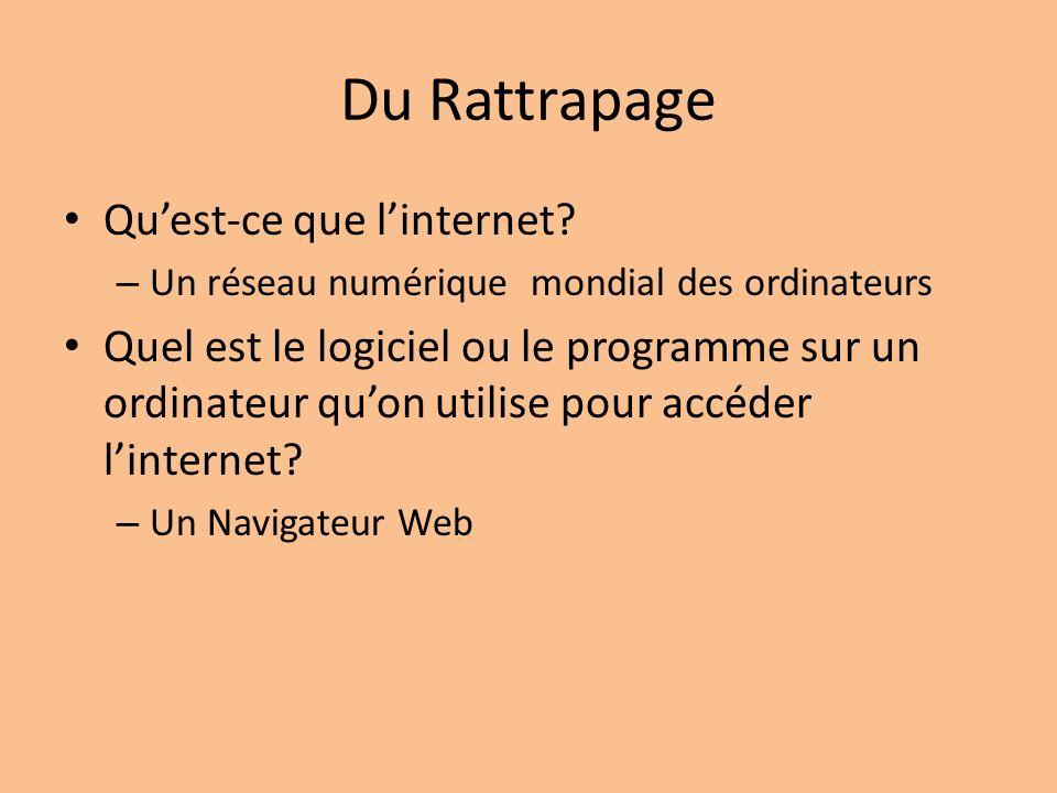 Du Rattrapage Qu'est-ce que l'internet