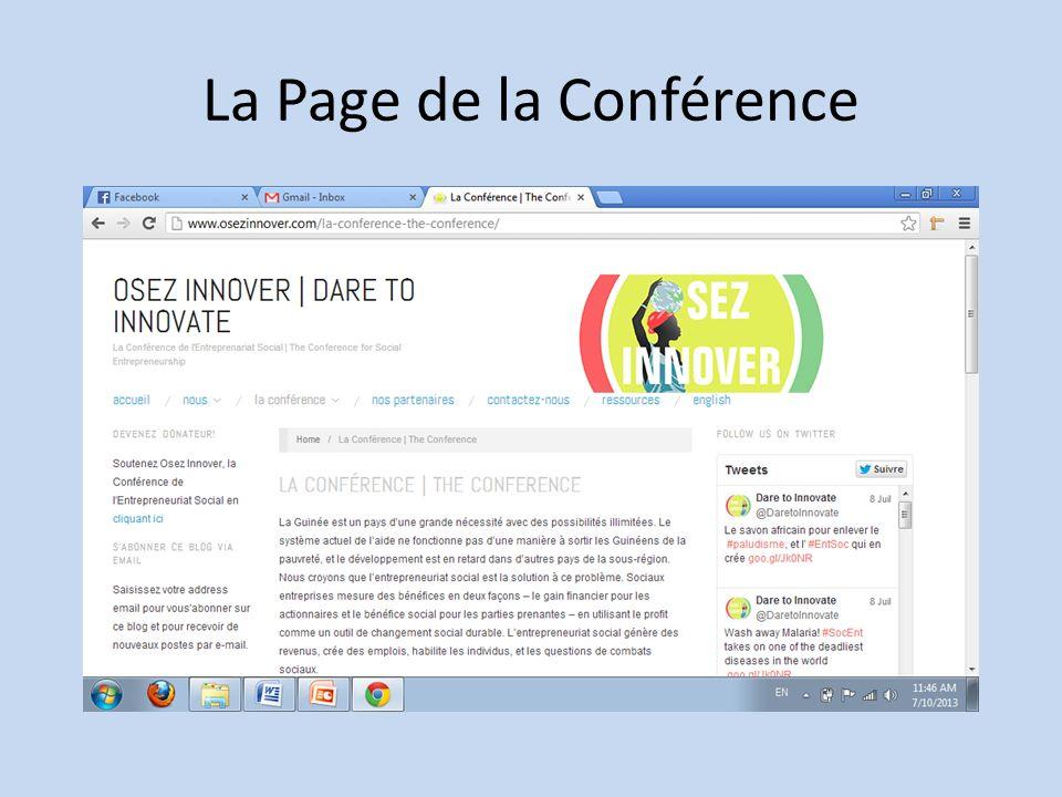 La Page de la Conférence