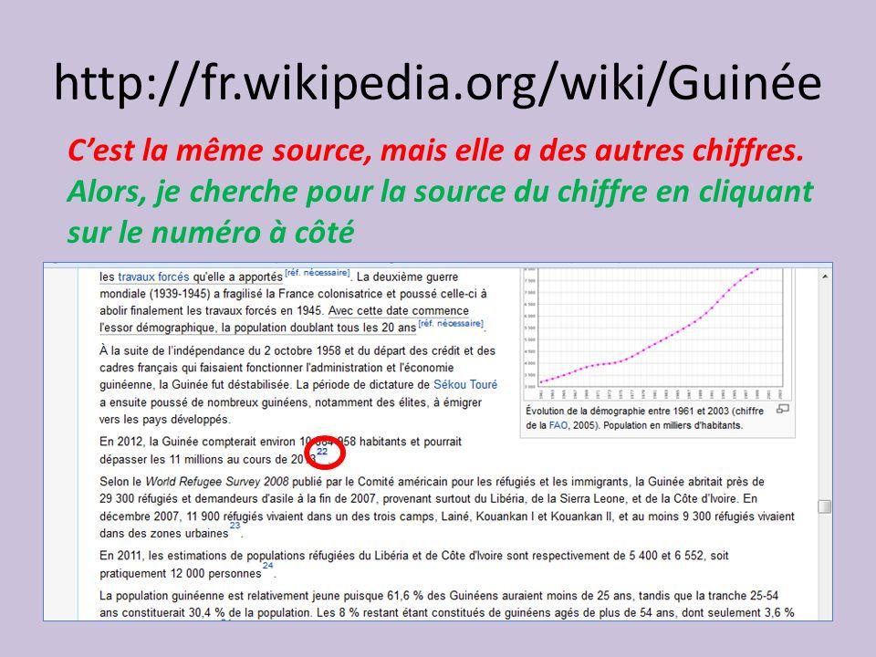 http://fr.wikipedia.org/wiki/Guinée C'est la même source, mais elle a des autres chiffres.