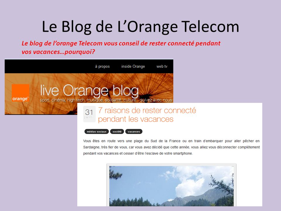 Le Blog de L'Orange Telecom