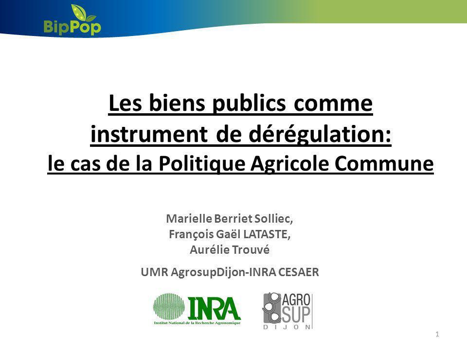 Marielle Berriet Solliec, UMR AgrosupDijon-INRA CESAER