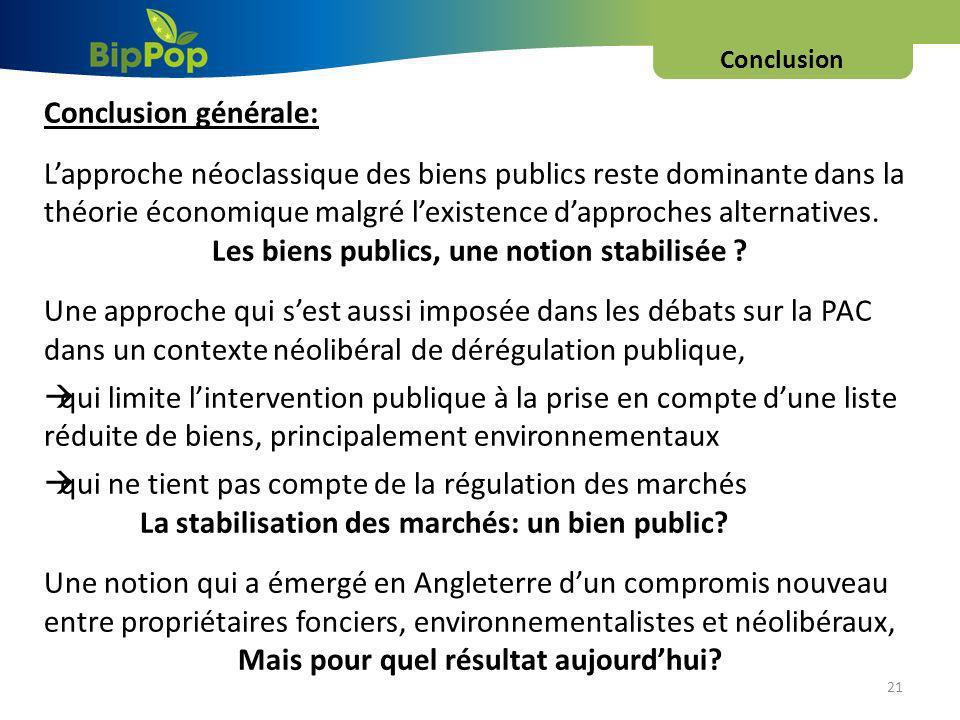 Les biens publics, une notion stabilisée