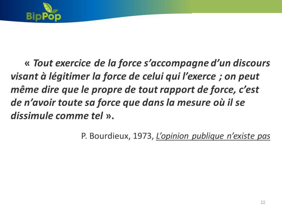 P. Bourdieux, 1973, L'opinion publique n'existe pas