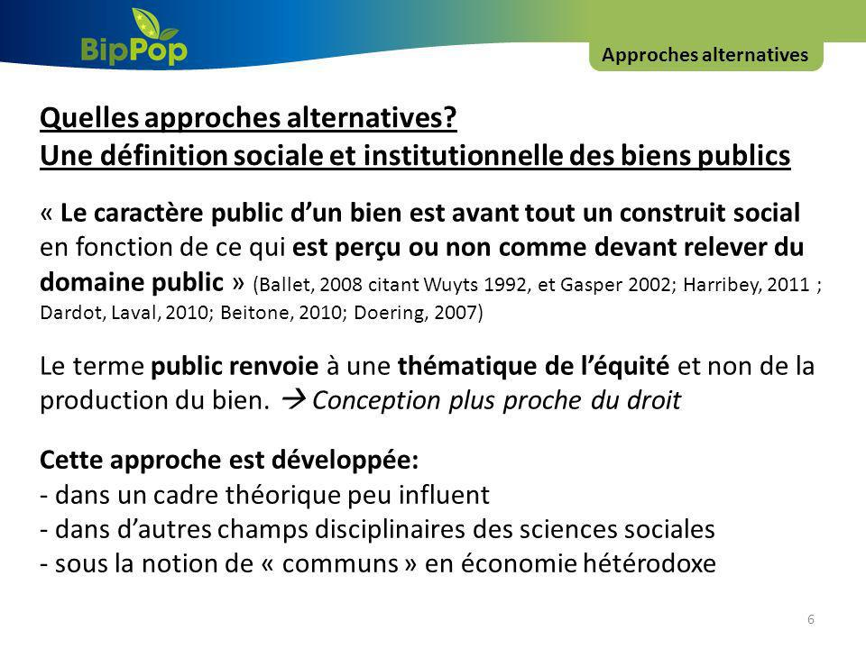 Approches alternatives