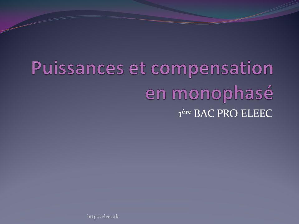 Puissances et compensation en monophasé