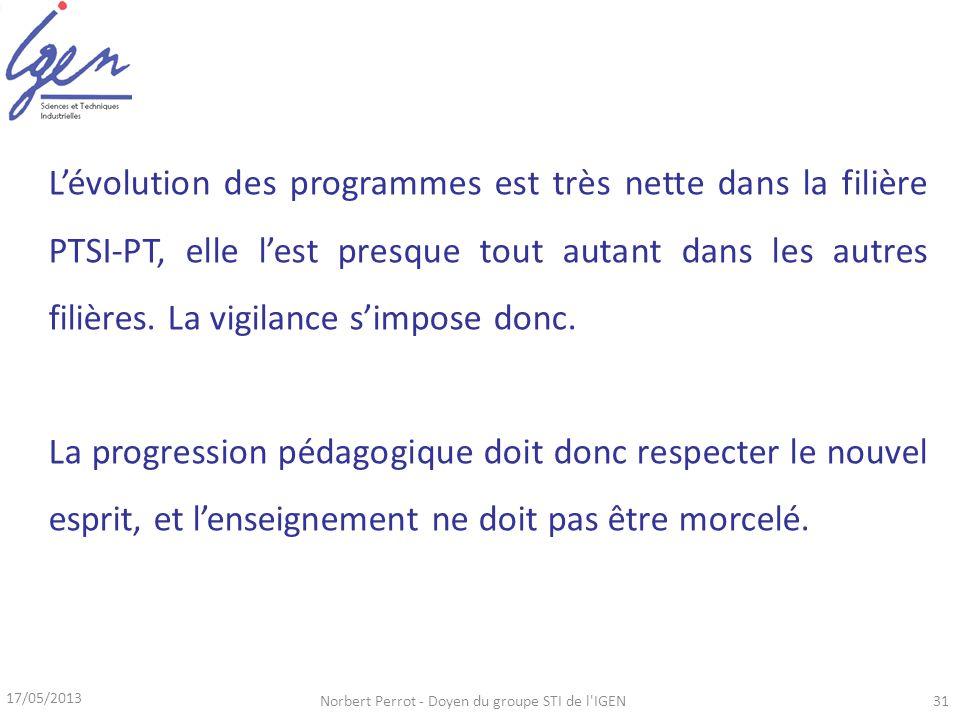 Norbert Perrot - Doyen du groupe STI de l IGEN