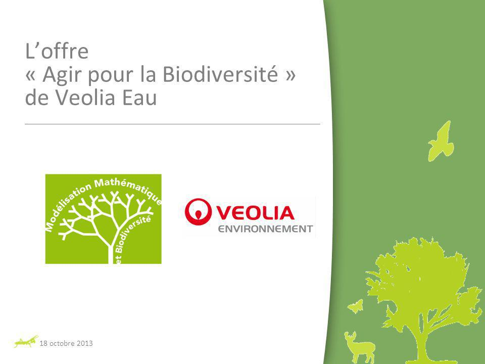 L'offre « Agir pour la Biodiversité » de Veolia Eau