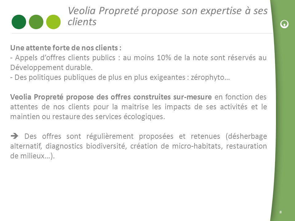 Veolia Propreté propose son expertise à ses clients