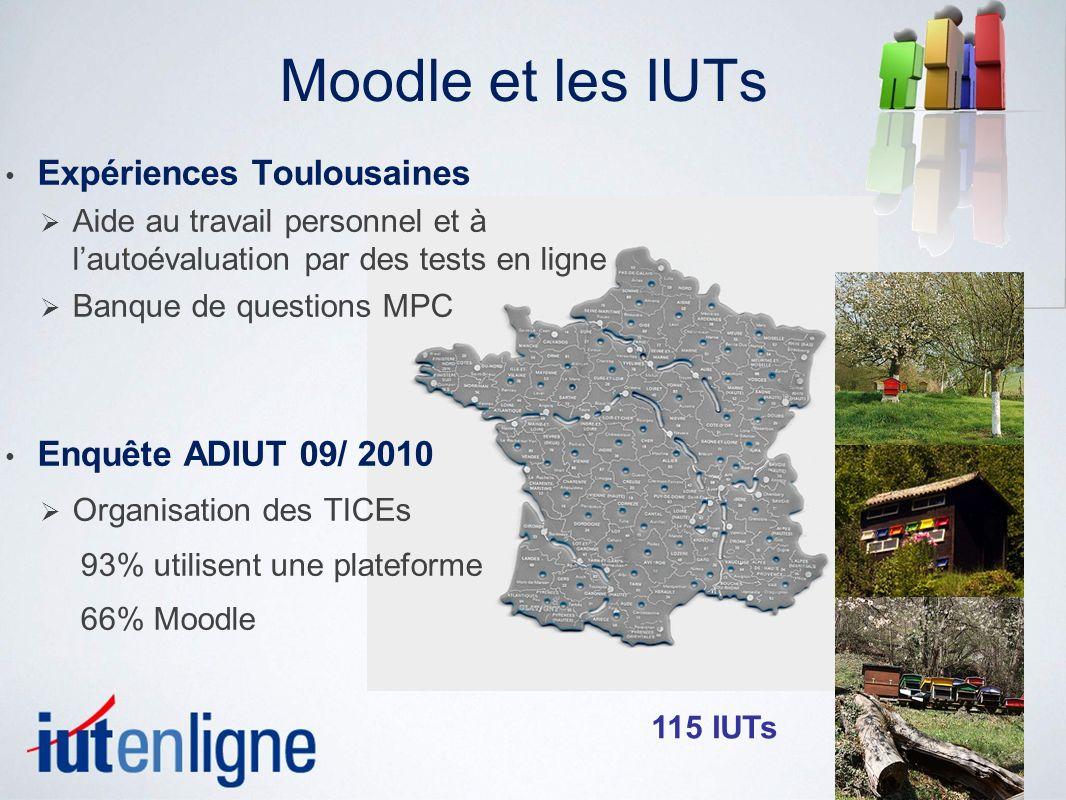 Moodle et les IUTs Expériences Toulousaines Enquête ADIUT 09/ 2010