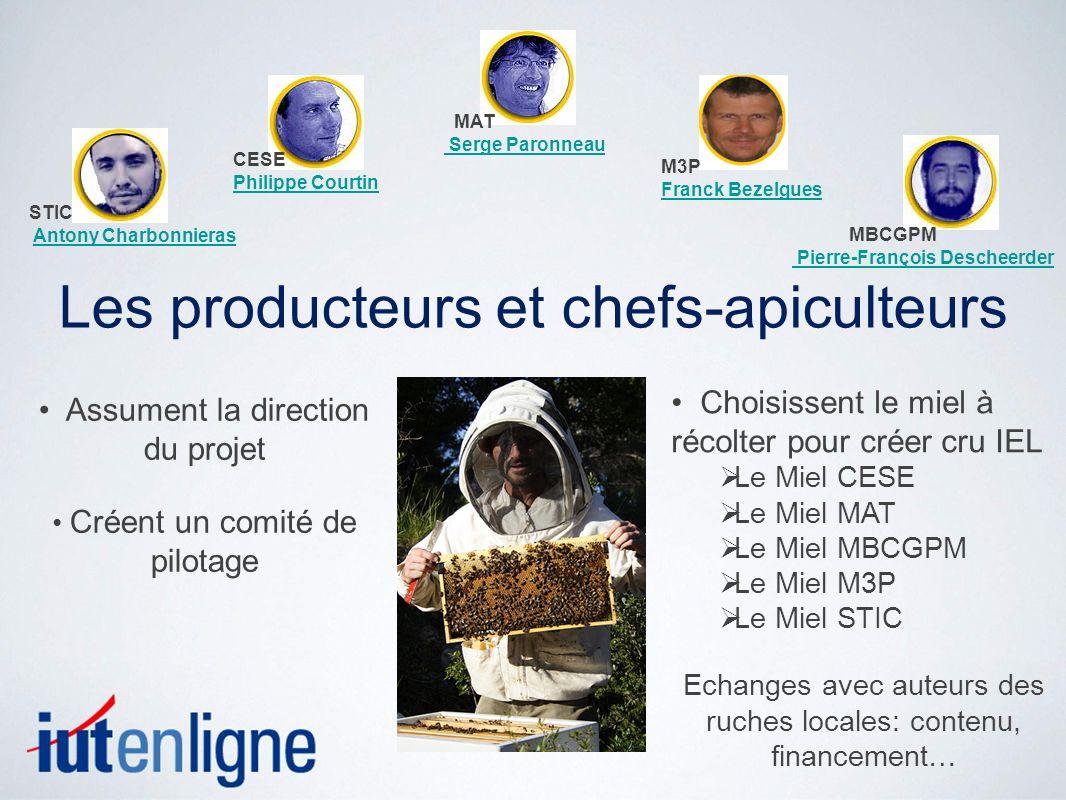 Les producteurs et chefs-apiculteurs