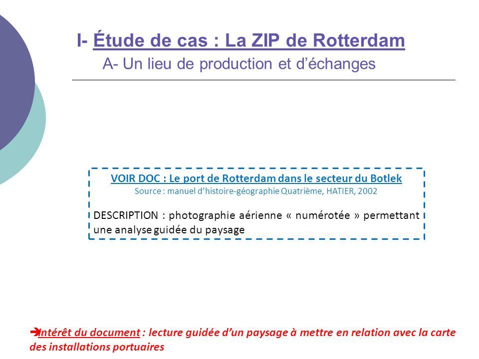 VOIR DOC : Le port de Rotterdam dans le secteur du Botlek