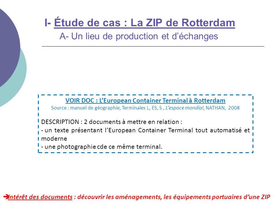 VOIR DOC : L'European Container Terminal à Rotterdam